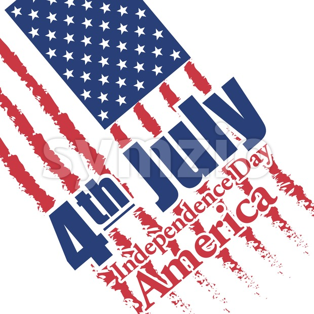 Fourth of july independence day of America card. Digital vector image Stock Vector