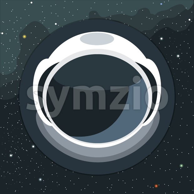 Digital vector with astronaut helmet icon, over background with stars, flat style Stock Vector