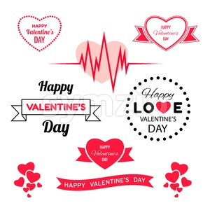 Digital vector red heart texture valentine day or wedding design element, love and passion, poster template for print or ads flat style Stock Vector