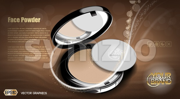 Modern face powder cosmetic Stock Vector