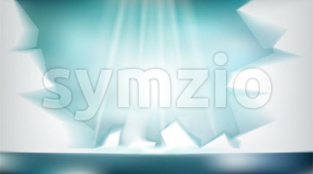 Digital vector abstract empty light frozen icy Stock Vector