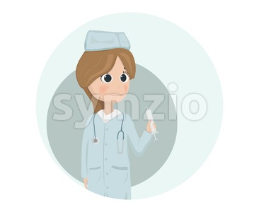 Woman doctor or nurse Vector illustration. Cartoon character Stock Vector