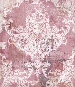Baroque pattern vintage background Vector. Ornamented texture luxury design. Intricate Royal textile decor. Trendy colors Stock Vector