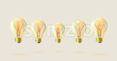 Light bulb Vector detailed illustration. Symbolic idea suggestion Stock Vector