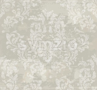 Vector damask pattern background. Classical luxury old fashioned ornament, royal victorian texture for wallpapers, textile, wrapping. Exquisite floral Stock Vector