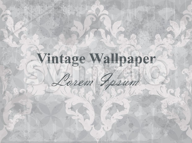 Vintage wallpaper vector. Classic ornament elegant structure vintage theme decor Stock Vector