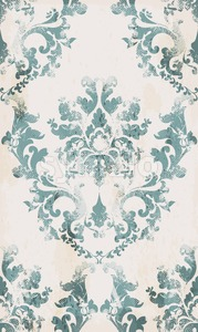 Vintage seamless ornament pattern Vector. Baroque classic background. Royal victorian texture. Old painted style decor design Stock Vector