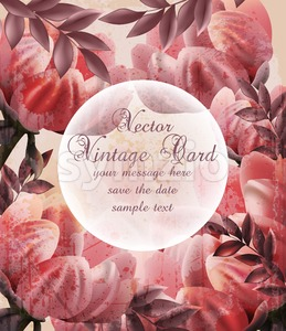 Vintage flowers Vector. Wallpaper floral decor beauty spring summer flower Stock Vector