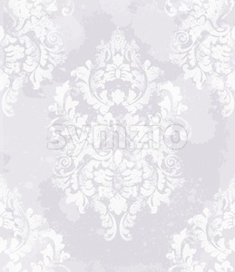 Elegant baroque pattern background Vector. Rich imperial decors. Royal victorian texture trendy color Stock Vector