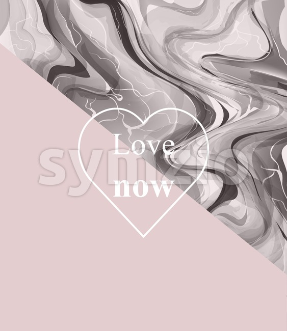 Luxurious card with stone pattern. Marble texture and pink abstract combination Stock Vector