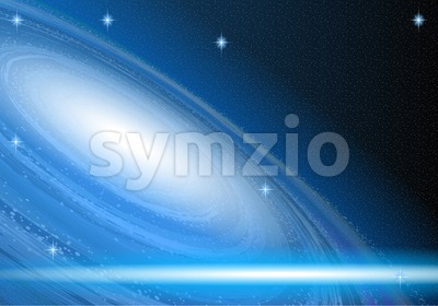 Digital vector blue space and cosmic abstract Stock Vector