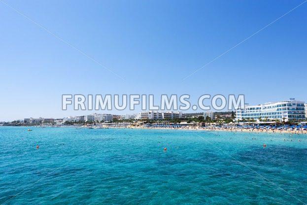 PROTARAS, CYPRUS – JUNE 12, 2016:Photo of sea and fig tree bay beach in protaras - frimufilms.com
