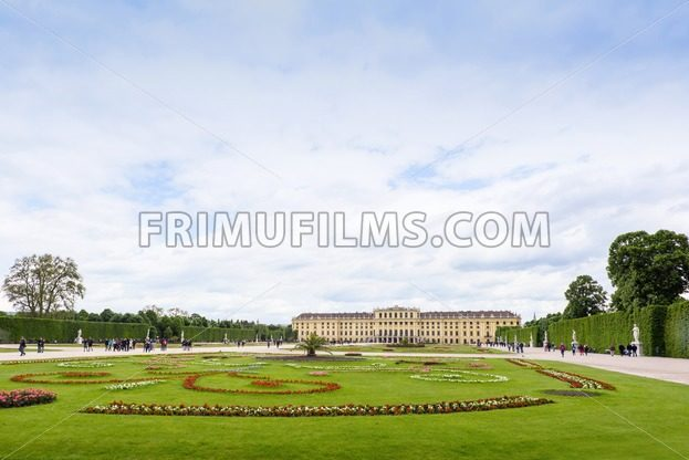 AUSTRIA, VIENNA – MAY 15, 2016: Photo view of schonbrunn - frimufilms.com