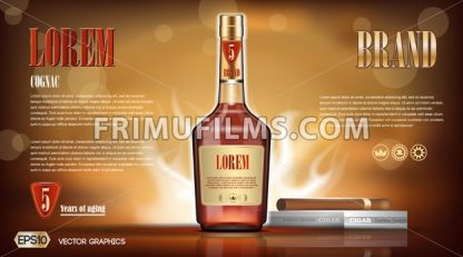 Cognac bottle Mock up - frimufilms.com