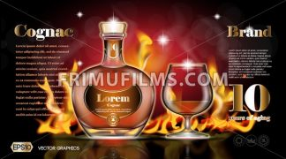 Cognac bottle and glass - frimufilms.com