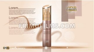 Cosmetic ads template mockup - frimufilms.com