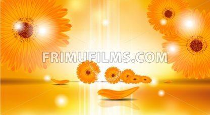 Digital Vector Sunflowers Background - frimufilms.com