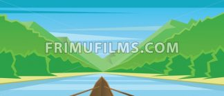 Digital vector abstract background with a boat - frimufilms.com