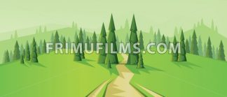 Digital vector abstract background with a road - frimufilms.com