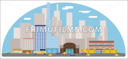 Digital vector abstract background with cityscape - frimufilms.com
