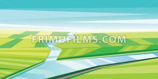 Digital vector abstract background with river - frimufilms.com