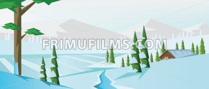 Digital vector abstract background with winter - frimufilms.com
