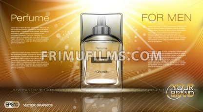 Digital vector brown and yellow glass perfume - frimufilms.com