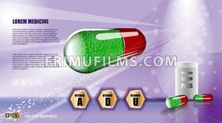 Digital vector green and red medicine vitamin pill - frimufilms.com