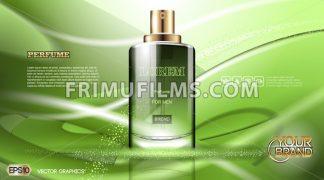 Digital vector green glass perfume for men - frimufilms.com