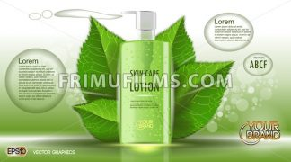 Digital vector green glass skin care lotion - frimufilms.com