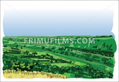 Digital vector landscape at orheiul vechi - frimufilms.com