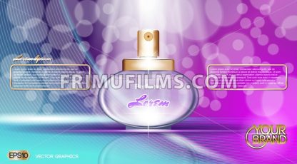 Digital vector purple and blue glass perfume - frimufilms.com