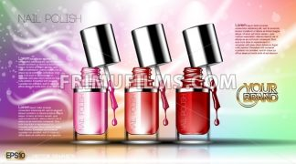 Digital vector transparent nail polish set - frimufilms.com