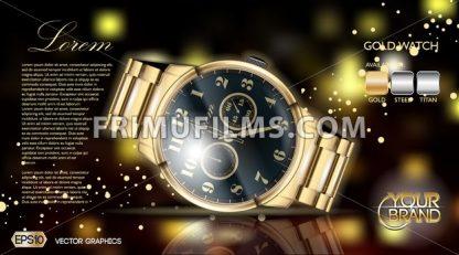 Gold watch mock up. - frimufilms.com