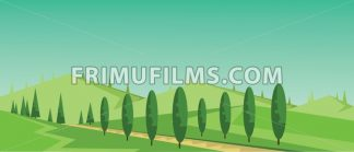 Vector abstract green landscape - frimufilms.com