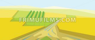Vector abstract yellow landscape - frimufilms.com