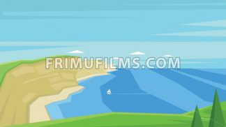 Digital vector abstract background with sea shores - frimufilms.com