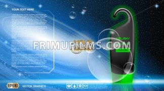 Digital vector black, blue and green shower gel - frimufilms.com