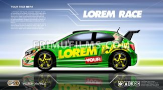 Digital vector green 2 seats sedan sport - frimufilms.com