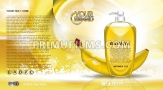 Digital vector yellow shower gel cosmetic - frimufilms.com