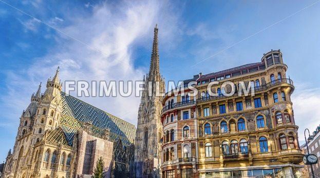 Saint stephen cathedral on stephansplatz in vienna - frimufilms.com