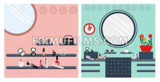 Digital vector image, woman make up room - frimufilms.com