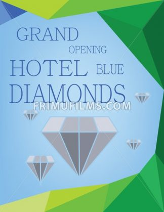 Abstract design for diamond hotel grand opening. Digital vector image - frimufilms.com