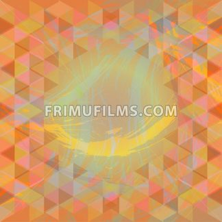 Abstract design with brush strokes and colored triangles. Digital vector image - frimufilms.com