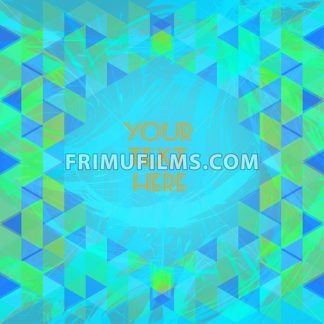 Abstract green and blue design with your text here and colored triangles. Digital vector image - frimufilms.com