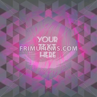 Abstract purple design with your text here and colored triangles. Digital vector image - frimufilms.com