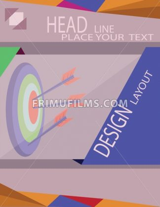 Abstract target with arrows for infographic, template for cycle diagram graph presentation. Digital vector image - frimufilms.com