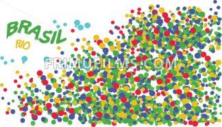 Brasil, Rio logo with colored circles. Digital vector image. - frimufilms.com
