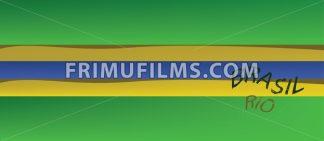 Brasil, Rio logo with national flag colors. Digital vector image. - frimufilms.com