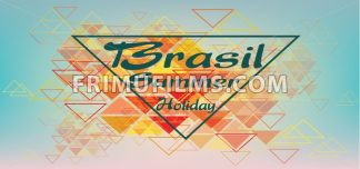Brasil summer holiday card with triangles over pastel colored background, in outlines. Digital vector image - frimufilms.com
